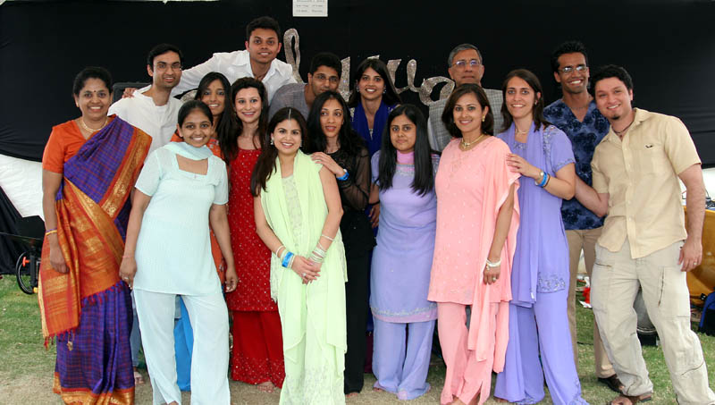 Actors from Shunya's performance at the Houston International Festival